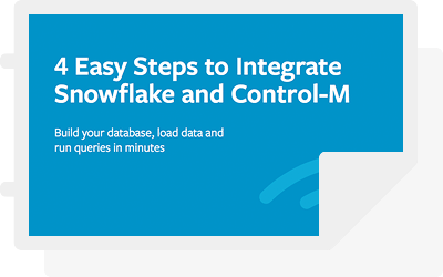4 Easy Steps to Integrate Snowflake and Control-M