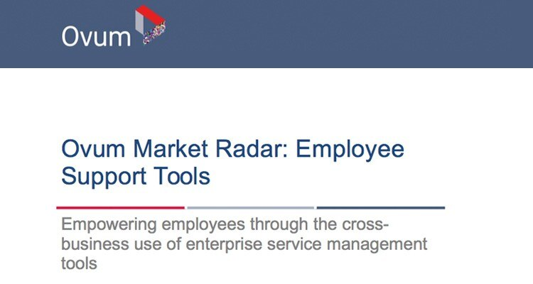 "Analyst report: ""Ovum Market Radar: Employee Support Tools"""